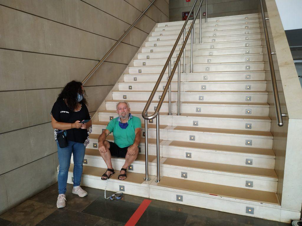 foto movil escalera IVAM 1